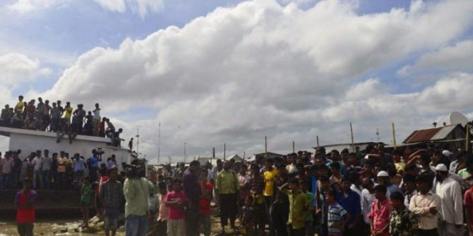 En la embarcación habían aproximadamente 250 personas Foto:AFP
