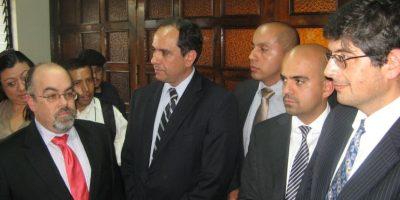 Representantes de las tres empresas telefónicas en la CC el 19 de diciembre. Foto:Archivo