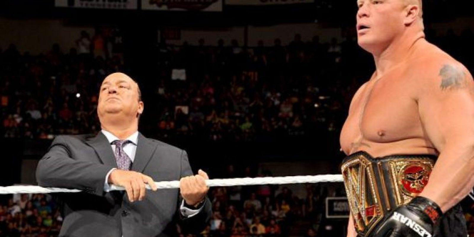 Regresó a la WWE para terminar con el invicto del Undertaker en Wrestlamania y apoderarse del Campeonato de Peso Pesado Foto:WWE