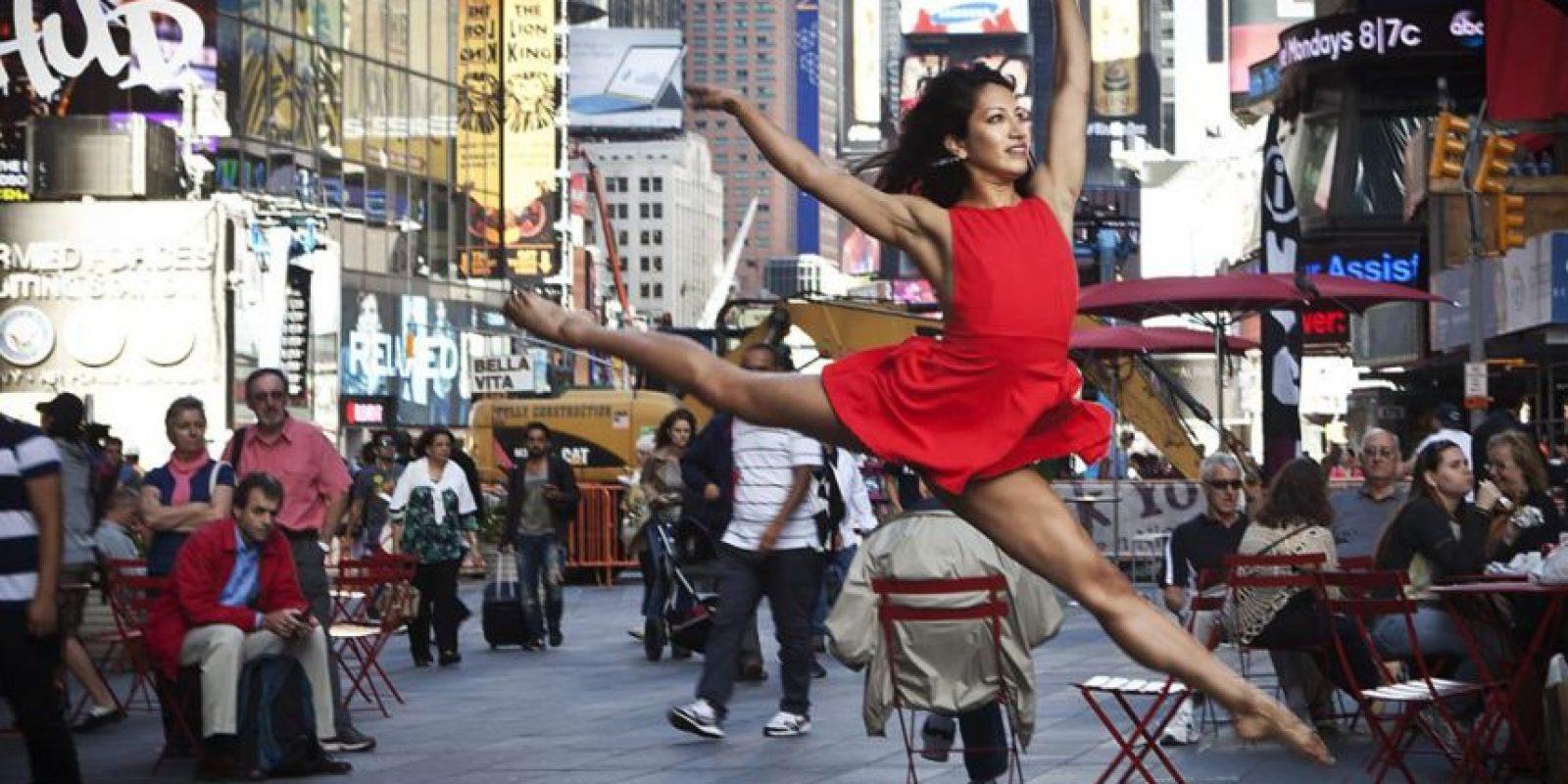 El Times Square es el lugar favorito para recibir el Año Nuevo. Foto:Infobae