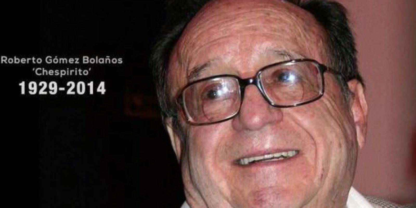 """ROBERTO GÓMEZ BOLAÑOS """"CHESPIRITO"""" (85 años), actor cómico, dramaturgo, escritor, director y productor mexicano. Marcó a varias generaciones de niños latinoamericanos con personajes como """"El Chavo del ocho"""" o el """"Chapulín colorado"""". Foto:Publinews"""