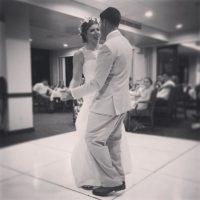 El primer baile como esposos Foto:Instagram