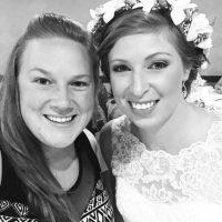 La novia junto a una invitada. Foto:Instagram