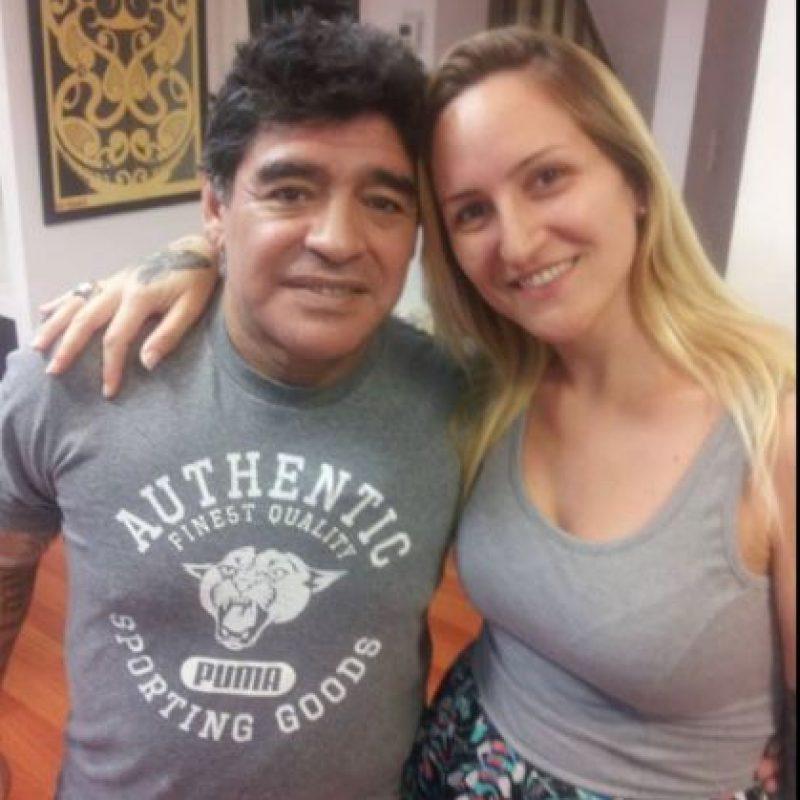 Así fue la sesión de tatuaje de Maradona Foto:Facebook: Skull Tattoo Estudio