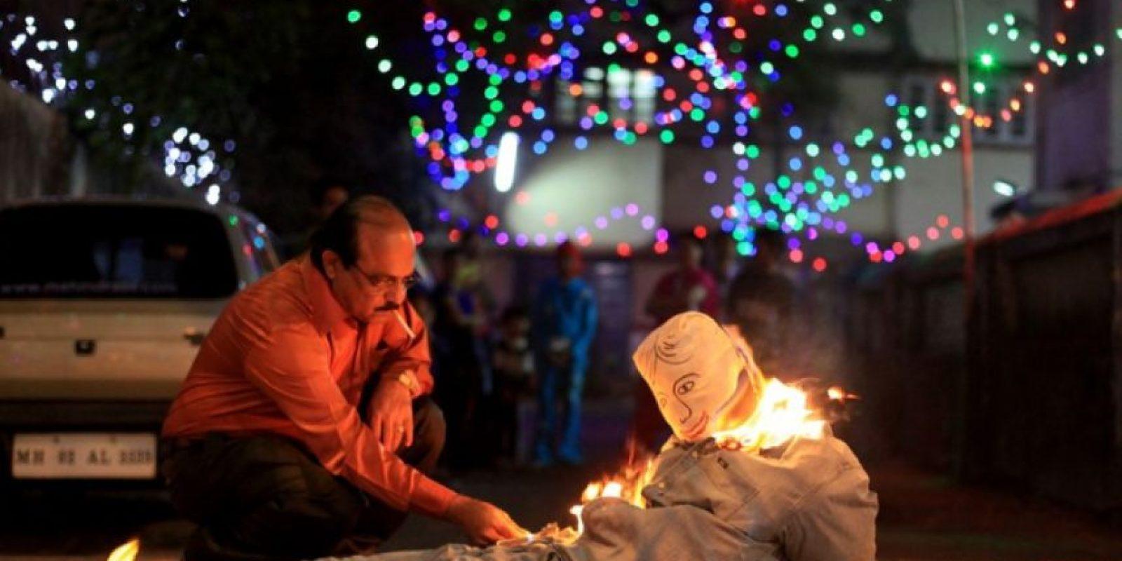 Puede ser profundo prenderle fuego a nuestro yo negativo del año viejo, pero materializarlo es peligroso Foto:Tumblr.com/tagged-año-nuevo-fail