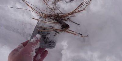 El smartphone estuvo 24 horas en la nieve Foto:TechRax
