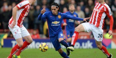 Falcao rescata un punto para el M. United tras empatar frente al Stoke