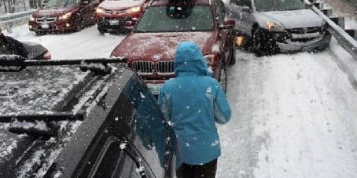 Impresionante choque en New Hampshire