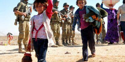 Miles de personas fueron desplazadas por la violencia de ISIS Foto:Getty Images