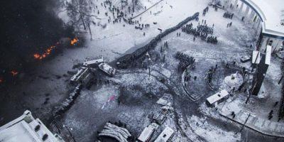 Enfrentamientos en Kiev, 22 de enero de 2014. Foto:Publinews