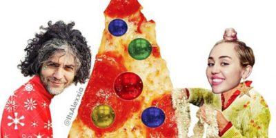 Tener un árbol navideño de pizza Foto:Instagram/Miley Cyrus