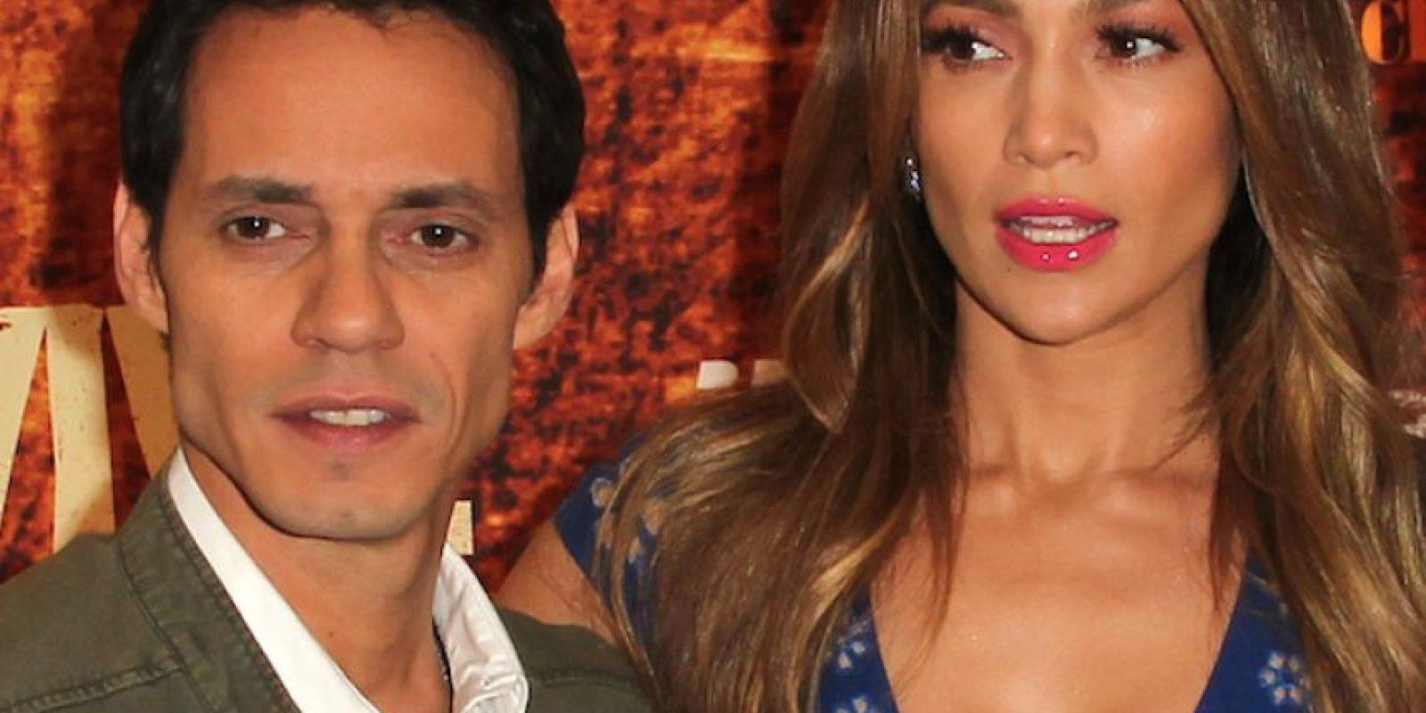Su boda también desató gran polémica, pues Marc se casó con JLo un día después de divorciarse de su ex Dayanara Torres. Foto:Getty Images