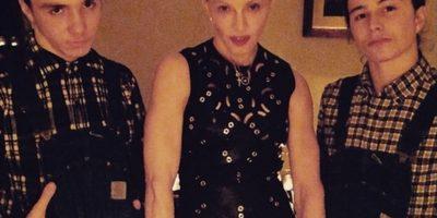 Madonna, su hijo Rocco y un amigo Foto:Instagram