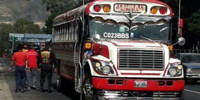 Vigilancia en los buses. Foto:PNC