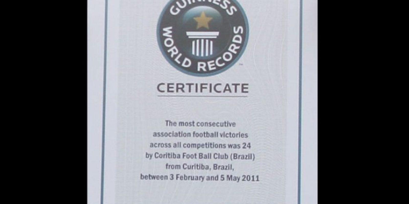 De esta forma continúan como el equipo con más victorias (24) al hilo, que consiguieron en 2011 Foto:Twitter: @coritiba