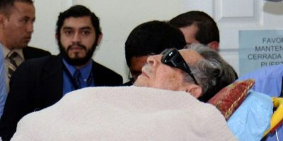 Llegada de Efraín Ríos Montt a su juicio Foto:AFP