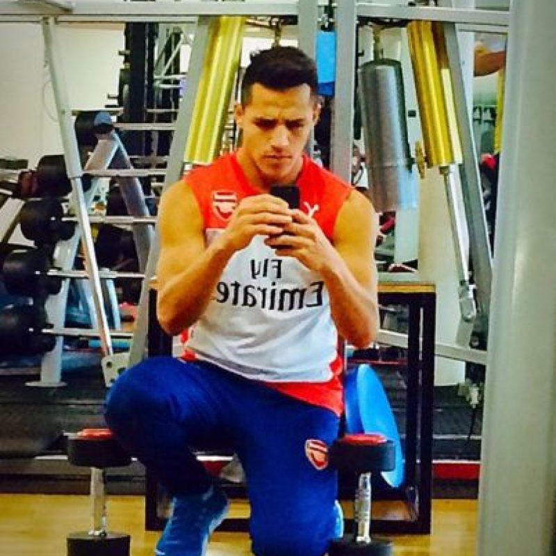 El chileno muestra la forma en que se entrena. Foto:twitter.com/Alexis_Sanchez