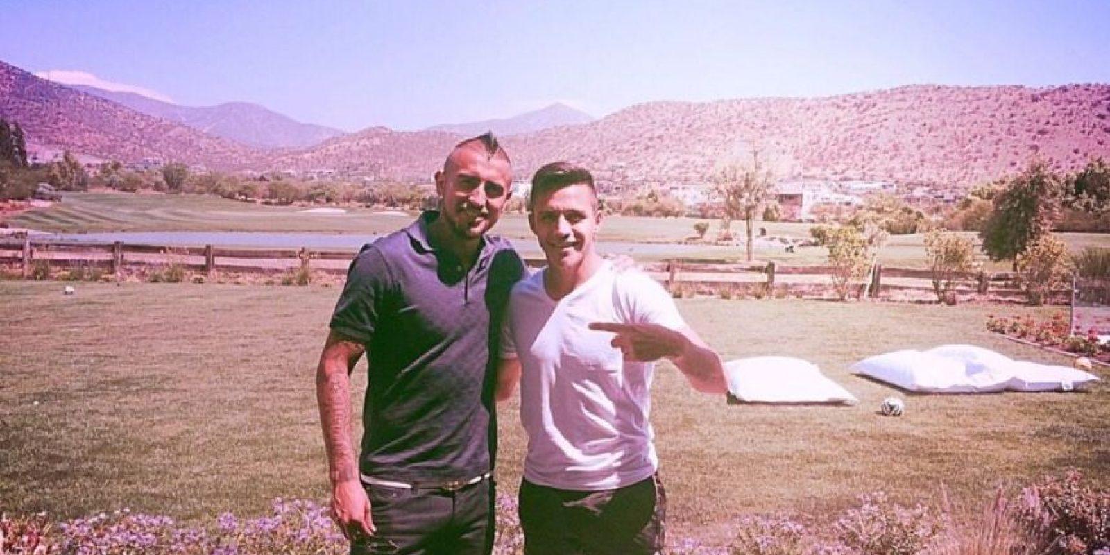 Arturo Vidal y Alexis Sánchez. Foto:twitter.com/Alexis_Sanchez