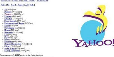 10. Yahoo sufrió un cambio de imagen en 1995 de Times New Roman al nuevo logo oficial en color morado Foto:Yahoo