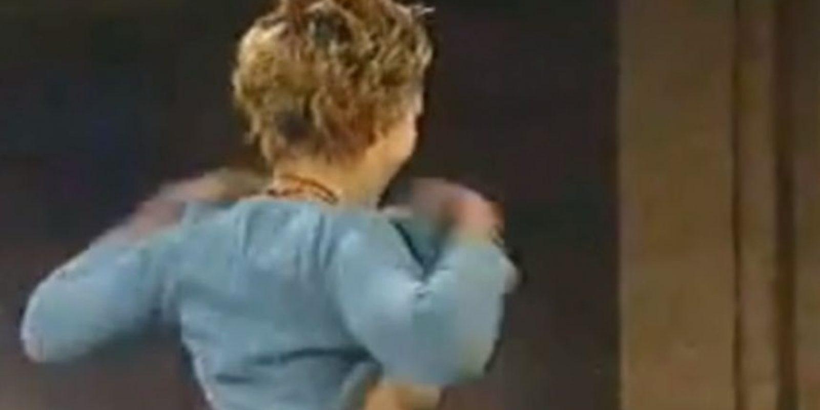 14. Drew Barrymore bailando sobre la mesa para David Letterman Foto:YouTube Yaxez
