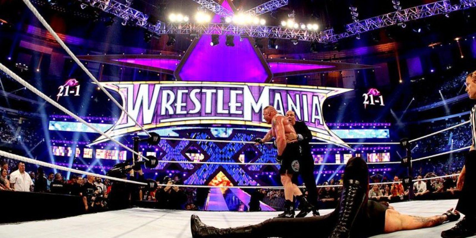 Dejó la marca del Enterrador en 21-1 en el magno evento del entretenimiento deportivo Foto:WWE