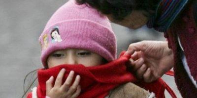 Niños deben ser abrigados. Foto:Publinews