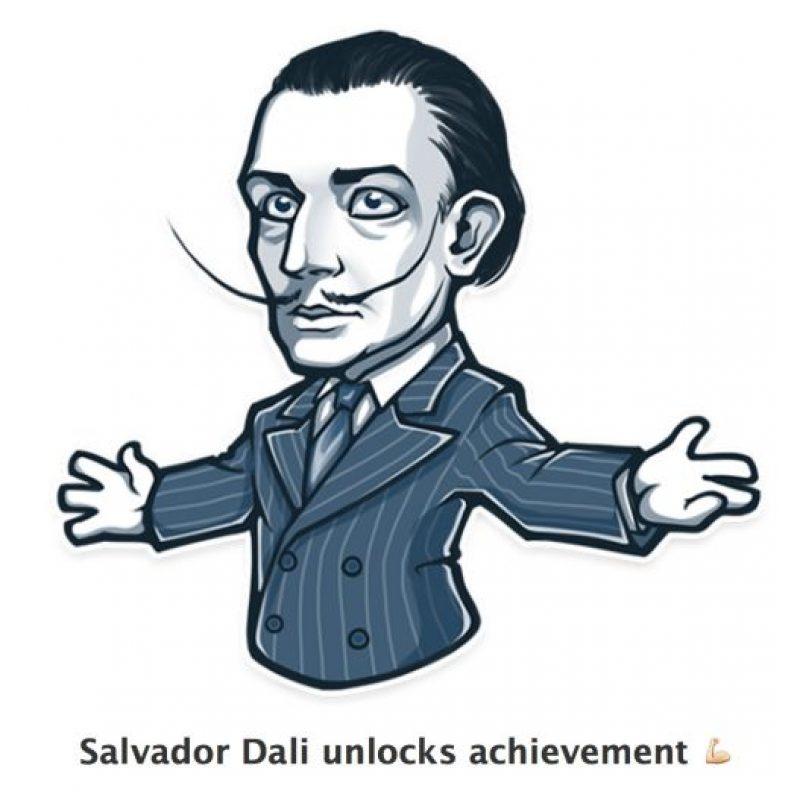 Salvador Dalí desbloqueando logros. Foto:Telegram