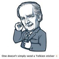 Uno no puede simplemente enviar un sticker. Foto:Telegram