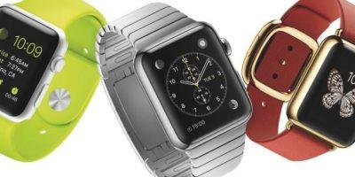 El reloj de Apple tendrá una pantalla de 38 o 42mm, sistema operativo basado en iOS 8, Wi-Fi, NFC, Bluetooth 4.0 y compatible con el iPhone a partir de la versión 5. Foto:Apple