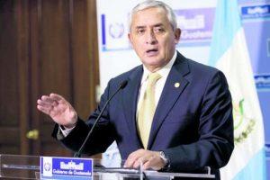 El presidente Otto Pérez aseguró que se evaluará el trabajo de la CICIG Foto:Publinews