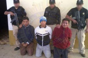 La banda ha sido detenida en Totonicapán. Foto:PNC