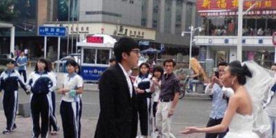 La idea era que su prometido le dijera que la amaría así estuviese vieja. Foto:Weibo