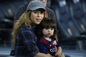 La colombiana espera a su segundo hijo junto al defensa del Barcelona, Piqué. Foto:AFP