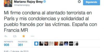 Mariano Rajoy, Jefe del Gobierno Español Foto:Twitter