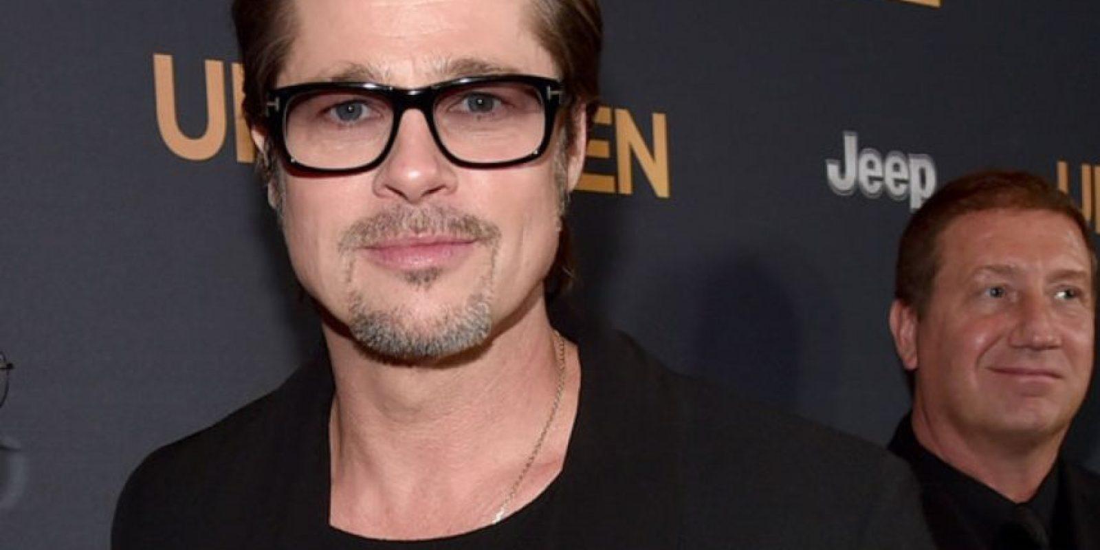 A Brad Pitt rara vez se le ve con el cabello largo. Foto:Getty Images