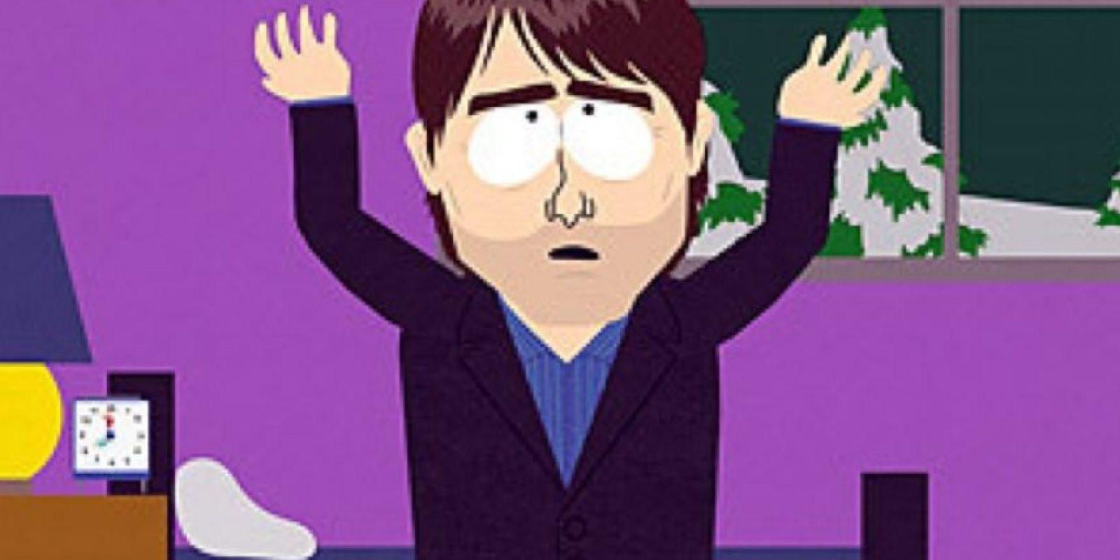 """En el episodio de 2005 de """"South Park"""" llamado """"Atrapados en el Clóset"""", Stan se une a la Cienciología y se descubre que es la reencarnación de su fundador, Ron Hubbard. Allí aparecen John Travolta y Tom Cruise, que ofendido, amenazó con no promocionar """"Misión Imposible III"""" si transmitían el episodio. Como hubo tanta censura y protestas, los creadores de la serie se burlaron aún más del hecho. Es uno de los episodios más importantes de la serie. Foto:Comedy Central"""