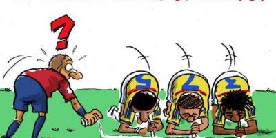 Pero una semana después, por parte del caricaturista PADR llegaba otra imagen donde se estigmatizaba a los colombianos, que indignados, azotaron la cuenta de Twitter del dibujante. Algunos hasta lo amenazaron de muerte. Foto:Twitter