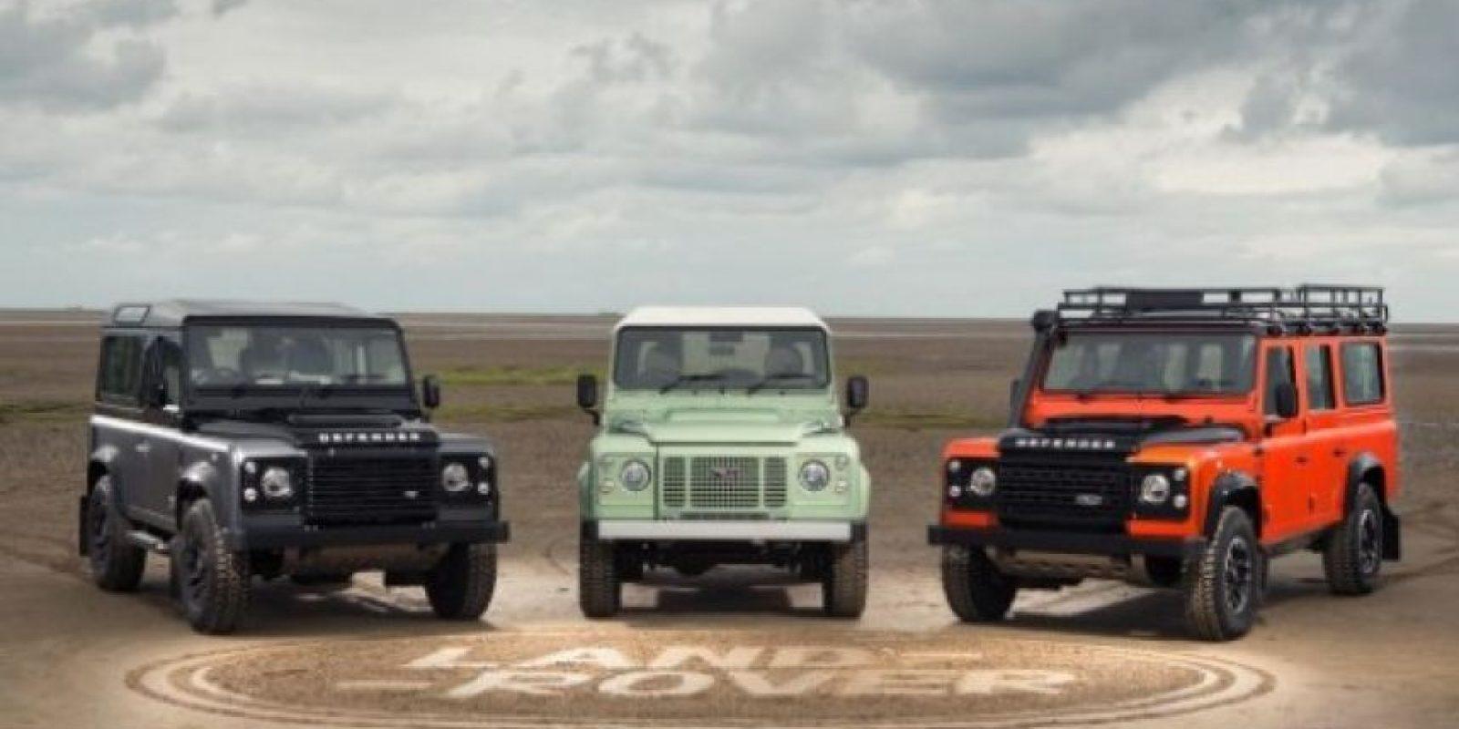 Los tres modelos de Defender Foto:Agencias