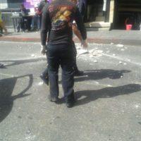 Socorristas atendieron a dos tramitadores heridos. Foto:Publinews