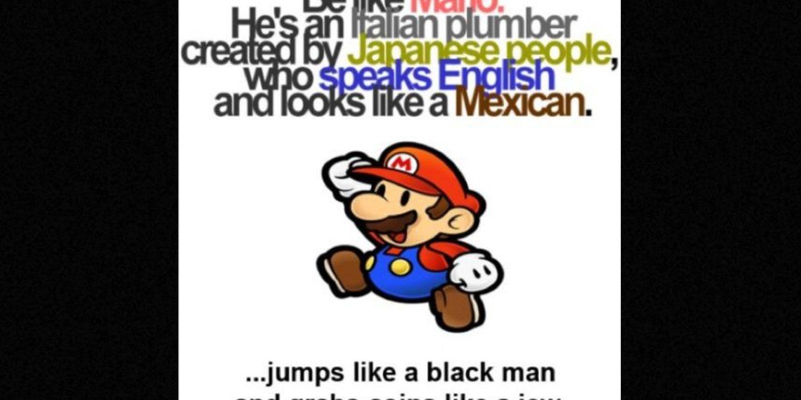 Después subió un cartel de Mario, pero fue acusado de antisemita y racista, por lo que tuvo que pedir disculpas Foto:instagram.com/mb459