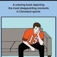 """""""¿Por qué papá está triste el domingo? Recopilación de los momentos más decepcionantes del deporte en Cleveland"""". Las ediciones latinas serían un """"hit"""", eso es seguro. Foto:Sports Illustrated"""