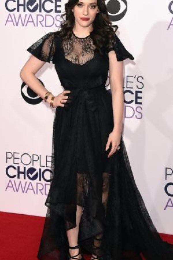 No, Kat Dennings. Así no. Foto: Getty Images