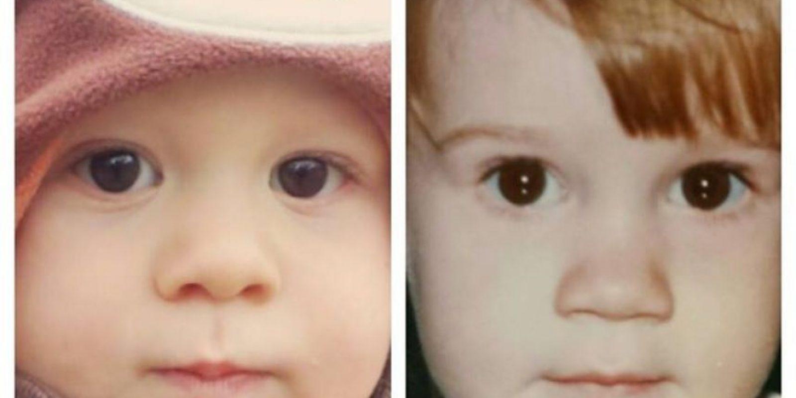 Mi hijo (izquierda) y yo, ambos con un año y medio. Foto:Pinterest