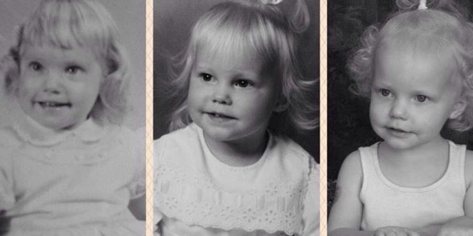 Mi madre, yo y mi hija, todas de dos años Foto:Pinterest
