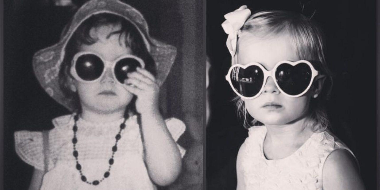 A la izquierda yo y a la derecha mi hija, Hannah Foto:Pinterest