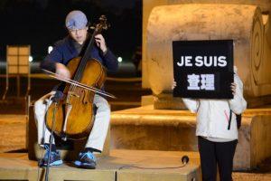 Homenajes en las calles a las víctimas del atentado Foto:AFP