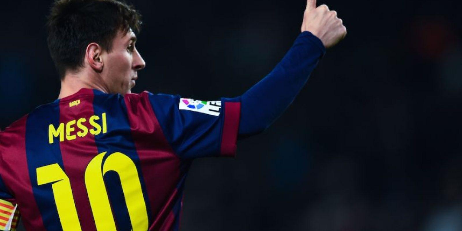 Messi hizo el Barcelona 3-0 Elche justo antes del medio tiempo. Foto:Getty Images
