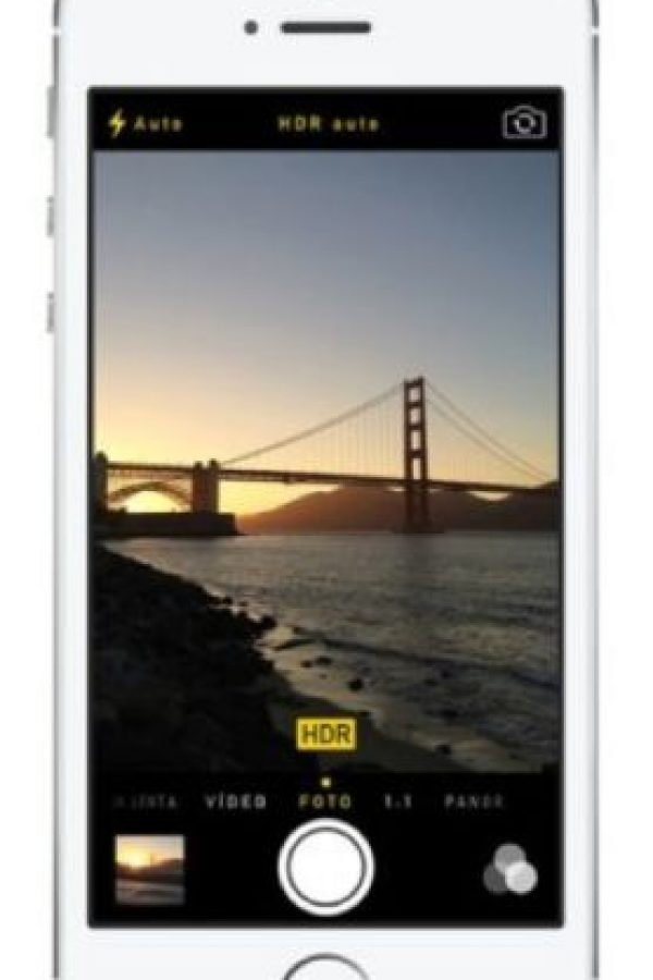 Muchas fotos en una sola toma. Mantener presionado el botón de captura al momento de tomar una foto hará que obtengan una gran cantidad de imágenes como si estuviera en modo ráfaga. Foto:Apple