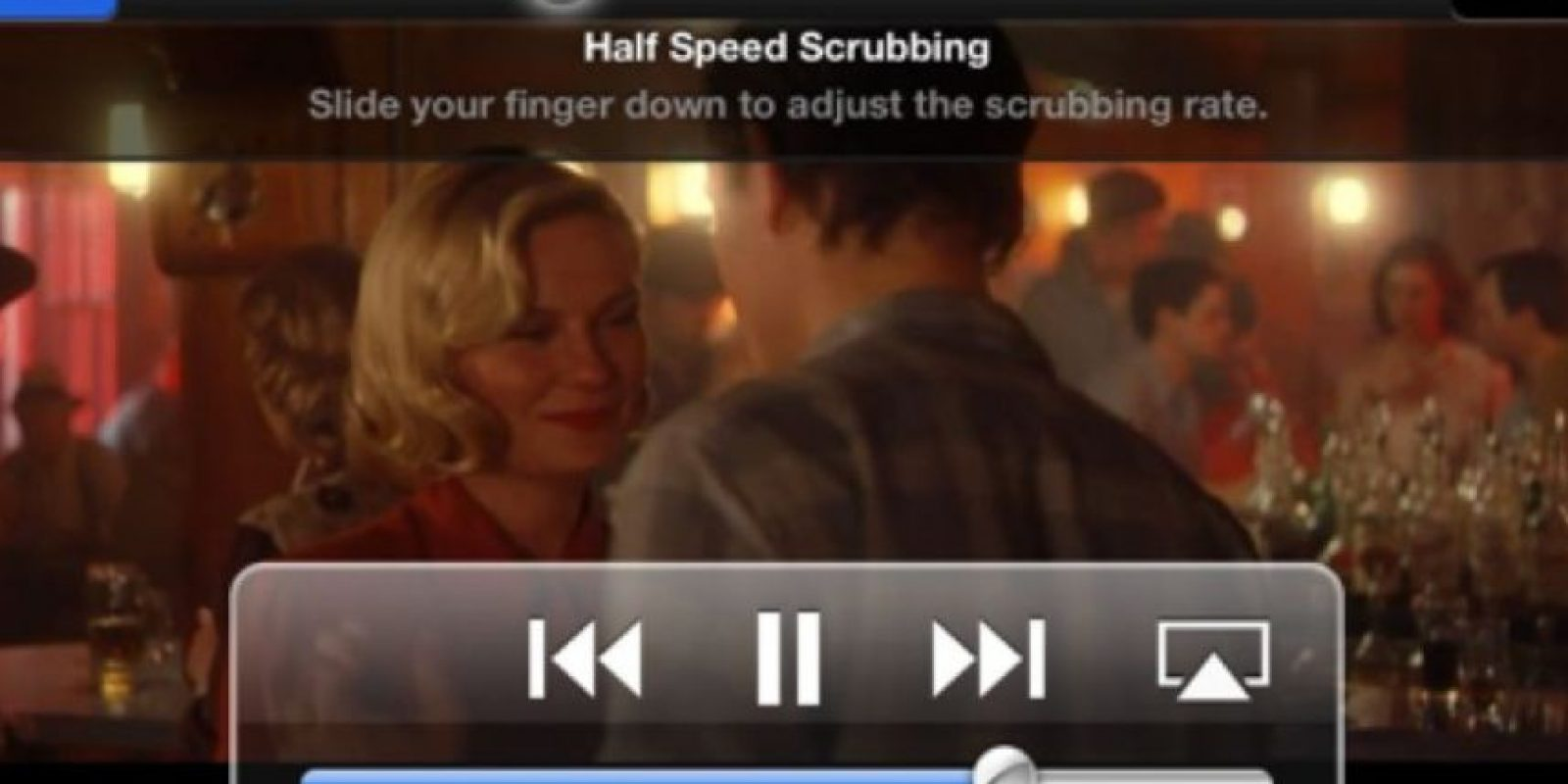 Cambiar la velocidad de reproducción de los videos. Pueden hacerlo al arrastrar el circulo en la barra de reproducción. Pueden cambiar la reproducción a velocidad media, a un cuarto de velocidad o a un octavo. Foto:vía screenlight.tv