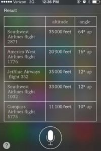 """Pueden conocer los vuelos que pasan por donde se encuentran en ese mismo instante con solo preguntar """"¿Cuáles son los vuelos encima de mí?"""". Foto:vía buzzfeed.com"""